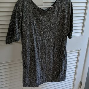 Forever 21 Grey Tunic Medium Button Down Back
